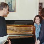 """Na planie """"Stroiciela"""" – Jerzy Schejbal, Agnieszka Kotulanka, Paweł Chmielewski"""