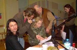Nagrywanie Braci. Od lewej – Dariusz Majchrzak, Paweł Chmielewski, Beata Buczek – Żarnecka, Eugeniusz Kujawski, Katarzyna Kaźmierczak
